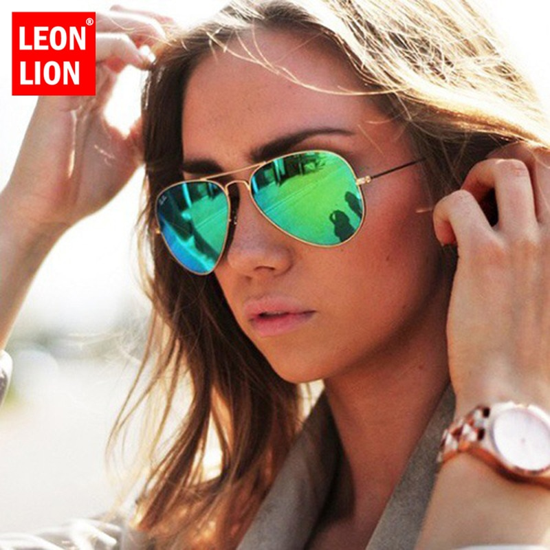 [해외]LeonLion 2018 Pilot Mirror Sunglasses Women/Men Brand Designer Luxury Sun Glasses Women Vintage Outdoor Driving Oculos De Sol/LeonLion 2