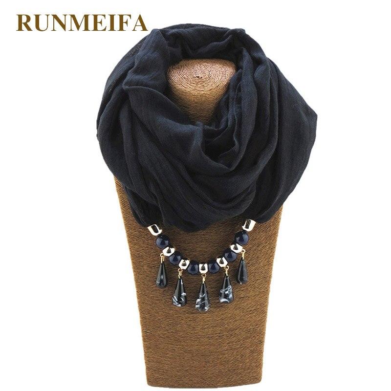 [해외]RUNMEIFA 여성 패션 뷰티 워터 드롭 펜던트 여성용 스카프 목도리 여성 스카프 목걸이 폴리 에스터 비치 타월 목도리/RUNMEIFA Women Fashion Beauty Water Drop Pendant Shawl Scarves for Ladies Fema