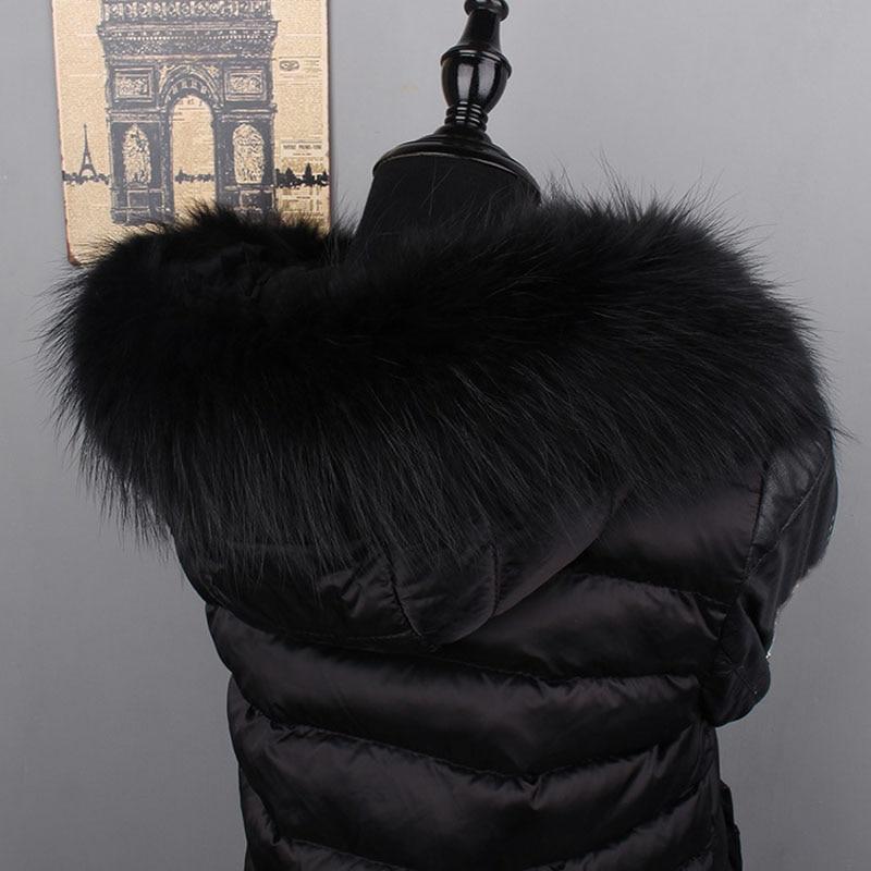[해외]MS.MinShu Genuine Raccoon Fur Hood Trim Scarf Black Color Fox Fur Collar Scarf Big Fur Collar Custom Made Hoodie Fur Trim/MS.MinShu Genuine Raccoo