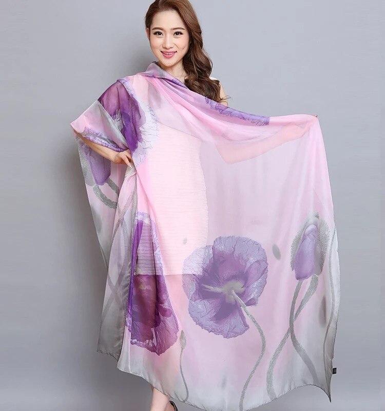 [해외]Oversize summer Pareo chiffon muffler scarf women outdoor sunscreen shawl wraps Chiffon scarves soft bandanna foulard muffler/Oversize s