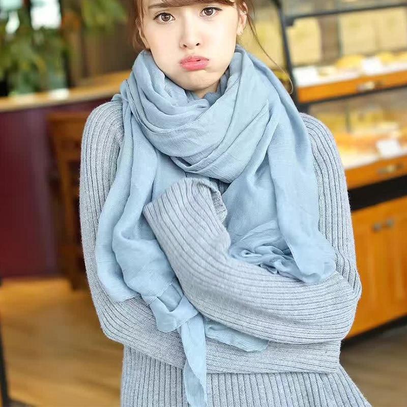 [해외]XIYUAN Brand Cotton Linen Scarf For Women New Gray/White/ Solid Color Warm Autumn Ladies Long Scarves Female Scarf Lady Shawls/XIYUAN Br