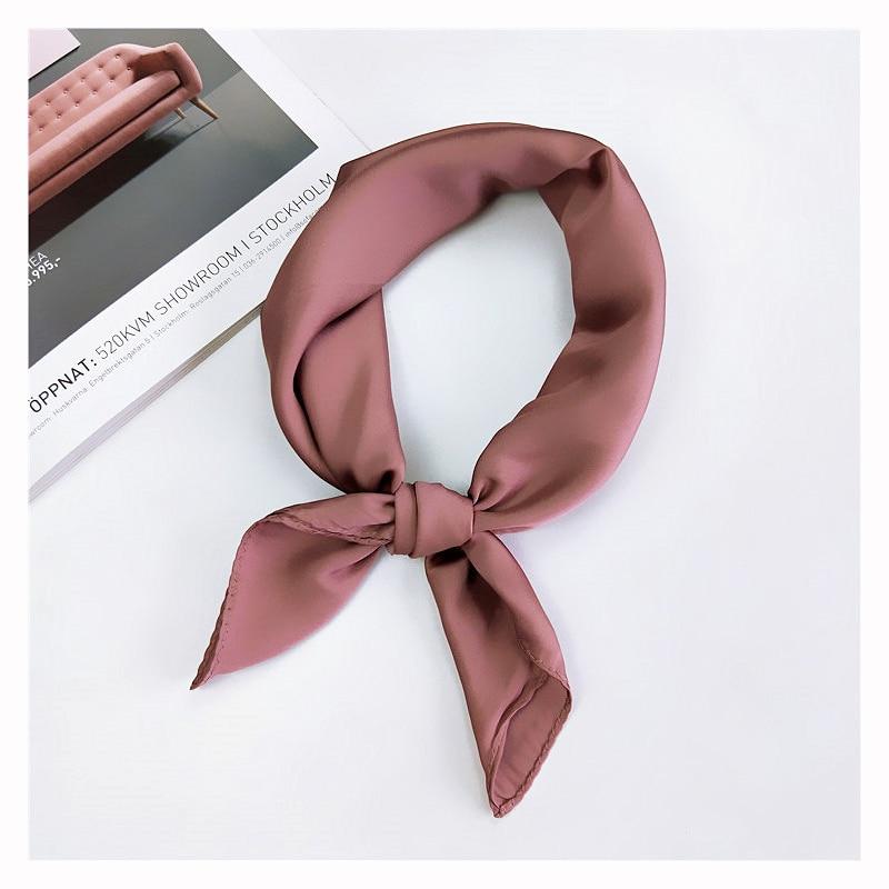 [해외]70cm*70cm Pure Color Square Scarf Hair Tie Band For Party  Shopping Women Elegant Women Wrap Handkerchief Bandana Accessories/70cm*70cm