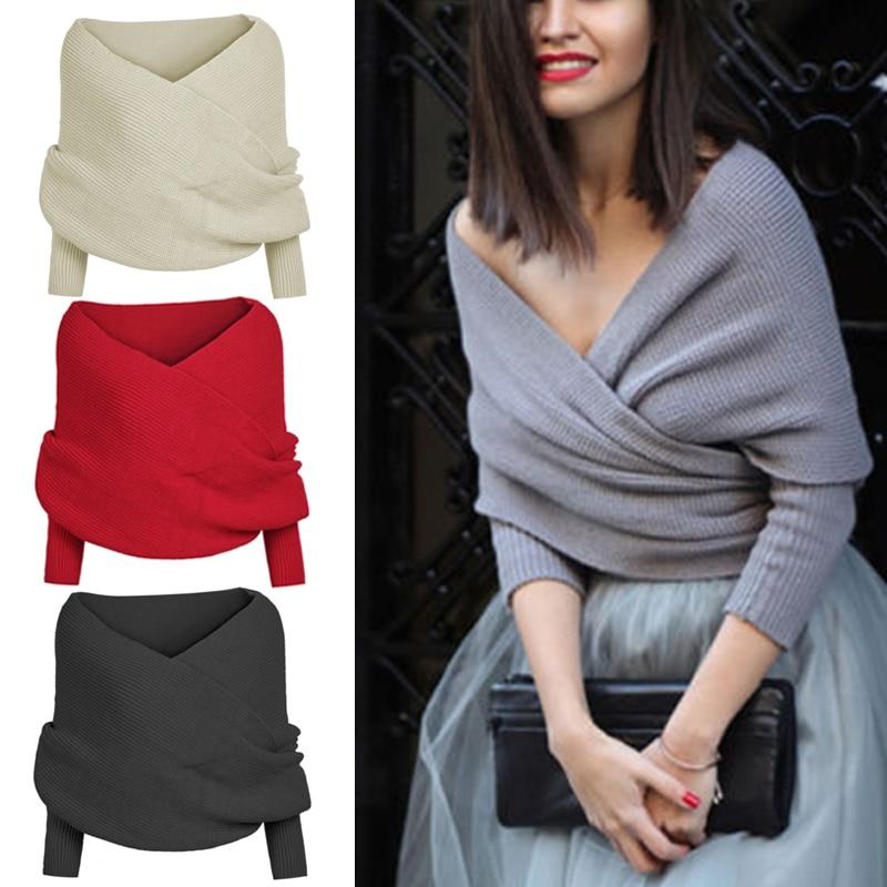 [해외]Women solid color Knitted Sweater Tops ScarfSleeve Wrap Winter Warm Shawl Scarves autumn scarf female shawl -OPK/Women solid color Knitt