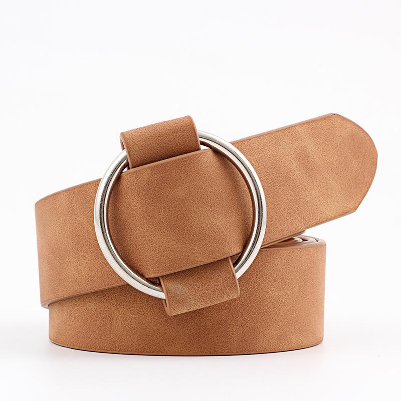 [해외]패션 여성 빈티지 금속 라운드 버클 허리 벨트 허리띠 바늘없는 서클 캐주얼 여성 벨트/Fashion Women Vintage Metal Round Buckle Waist Belt Waistband Needle-free Circle Casual Ladies Bel