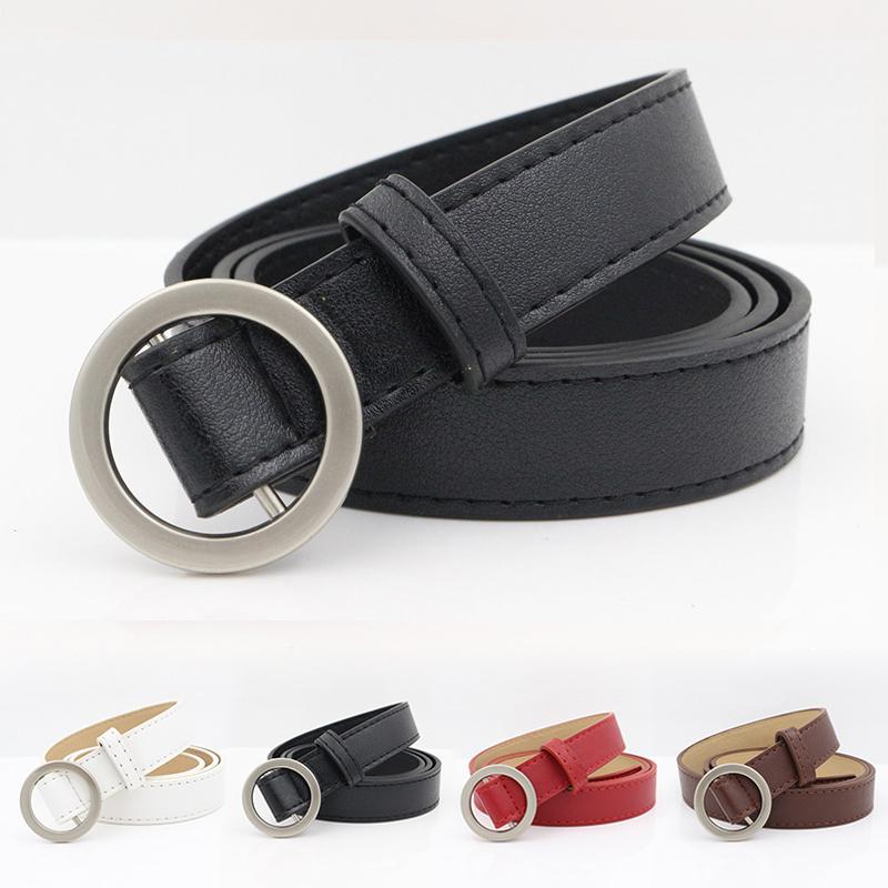 [해외]Fashion Harajuku PU Leather Straps Waistband Wide Belt Round Metal Buckle Belt For Women Dress Jeans Waist Belt ceinture femme/Fashion Harajuku PU