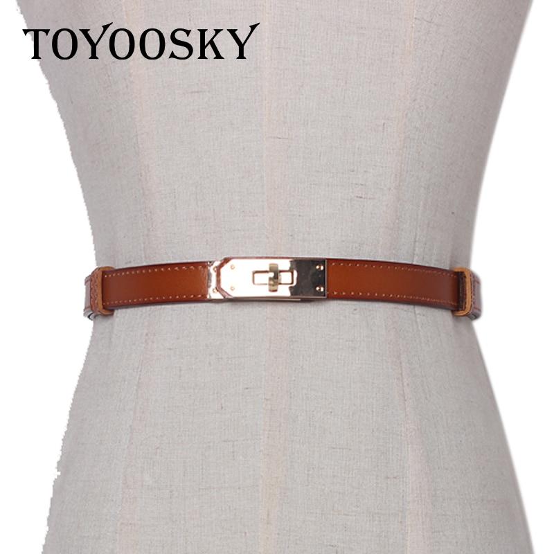 [해외]TOYOOSKY New Designer Women Belt Double Buckle Simple Style Fine Sash Thin Waistband for Jean All-Match Female Belt /TOYOOSKY New Designer Women B