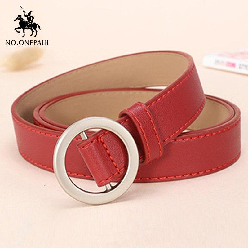 [해외]NO.ONEPAUL Womens new thin belt simple matching skirt no hole pin buckle free adjustment trendy design sweet youth student belt/NO.ONEPA