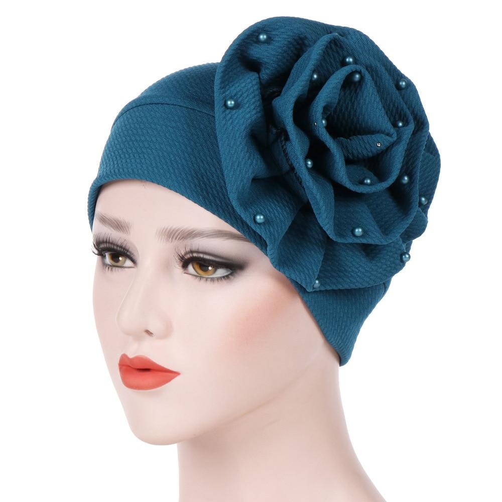 [해외]새 꽃 네일 진주 모자 이슬람 Turban 모자 Beanies 꽃 손 바느질 Hijabs 보닛 모자 랩 비니 모자 Bandanas WH013/New Floral Nail Pearl Cap Muslim Turban Hat Beanies Flower Hand Sew