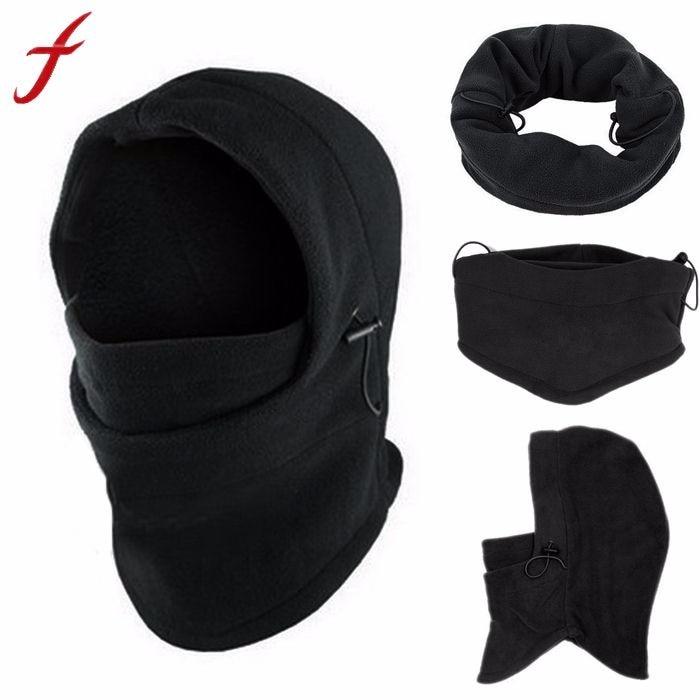 [해외]양털 후드 6 in1 겨울 모자 남성 Skullies Beanies 모자 남성용 여성 양모 스카프 마스크 모자 모자 Balaclava Beanie 니트 모자 남성/Fleece Hood 6 in1 Winter Hat Men Skullies Beanies Hats