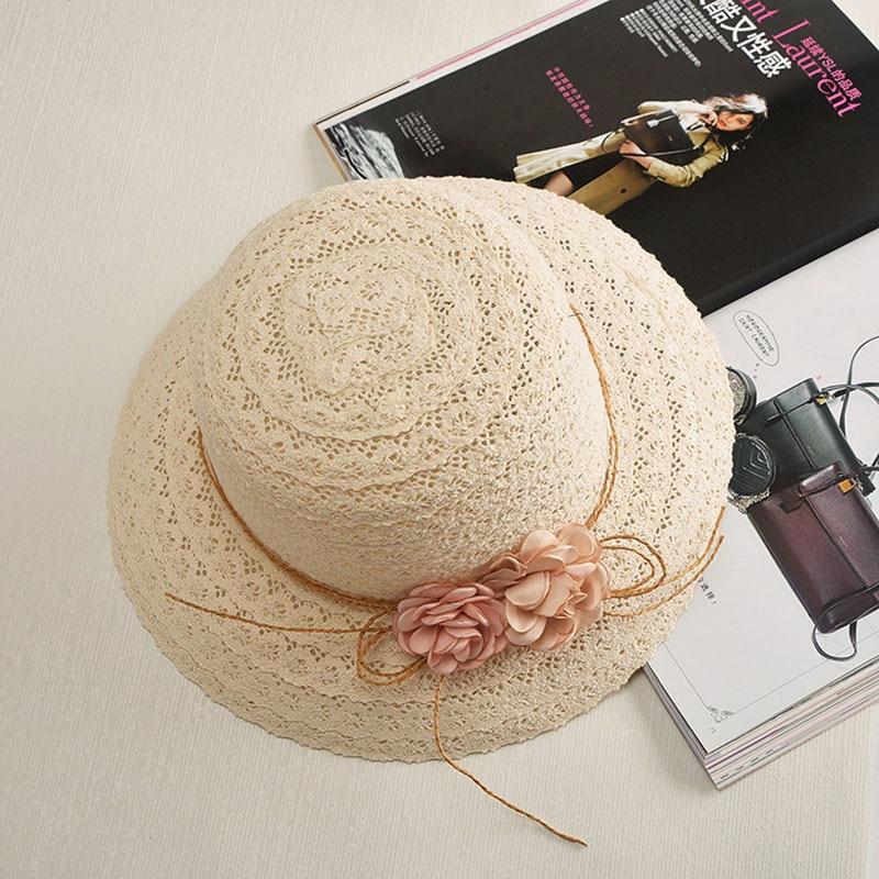 [해외]여름 수 제 꽃 strawhat 여자 갈 랜드 sunbonnet 양동이 모자 롤 업 해변 모자 태양 모자 여성을위한/Summer Handmade flower strawhat women`s Garland sunbonnet bucket hat roll-up hem