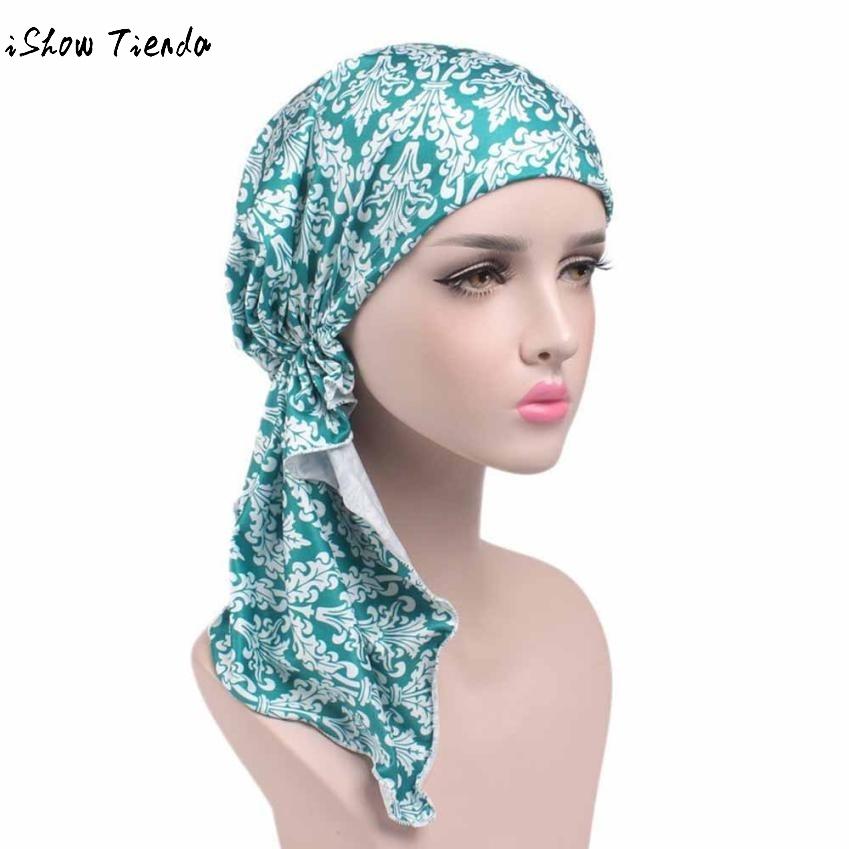[해외]새로운 유행 여자 꽃 인쇄 암 연고 Chemo Hat Beanie 스카프 Turban 머리 포장 모자 Beanie 모자 Bandana Headscarf Gorro/New Fashion Women Flower Printing Cancer Loog Chemo Hat