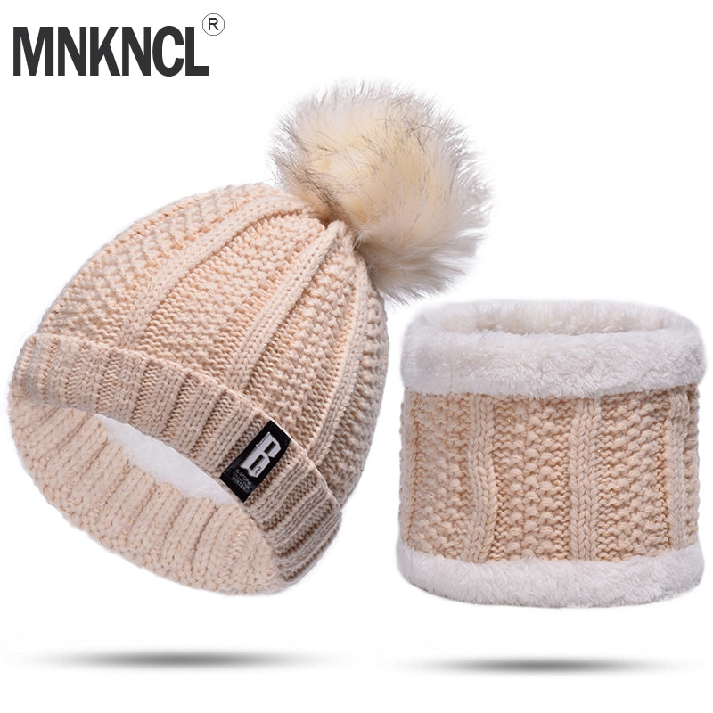 [해외]MNKNCL 2 조각 세트 여성 겨울 모자 및 스카프 겨울 Beanies 양모 여성 겨울 모자 캐주얼 솔리드 컬러 모자 및 스카프/MNKNCL 2 Pieces Set Winter Hat And Scarf For Women Winter Beanies Wool Fe
