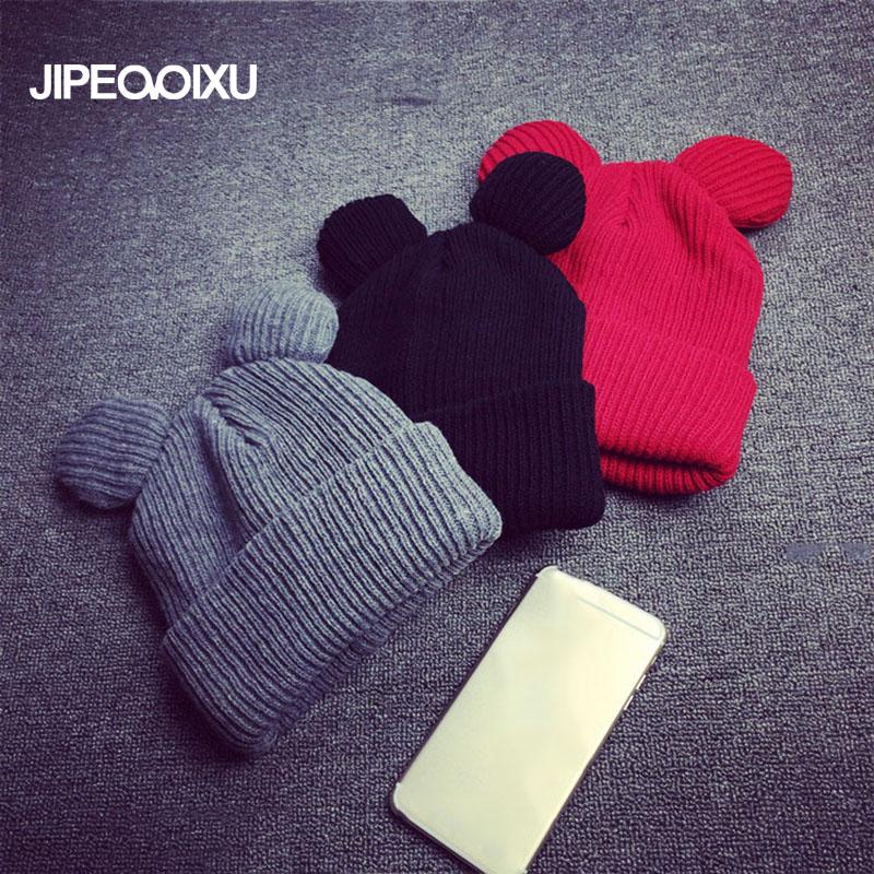 [해외]패션 여성 고양이 귀 뜨개질 귀여운 모자 겨울 새로운 따뜻한 귀 보호대 windproof Wool Hat 귀마개/Fashion Women Cat Ear knitting Cute Cap Winter New Warm  Ear protector Windproof Wo