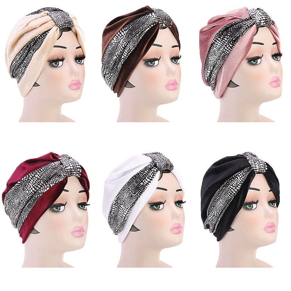 [해외]여자를모자 겨울 모자 여자 회교도 모자 레트로 Turban 모자 머리 스카프 감싸기 모자 shapeu feminino casquette 핑/hats for women winter cap Women Muslim Hat Retro Turban Hat Head Sca