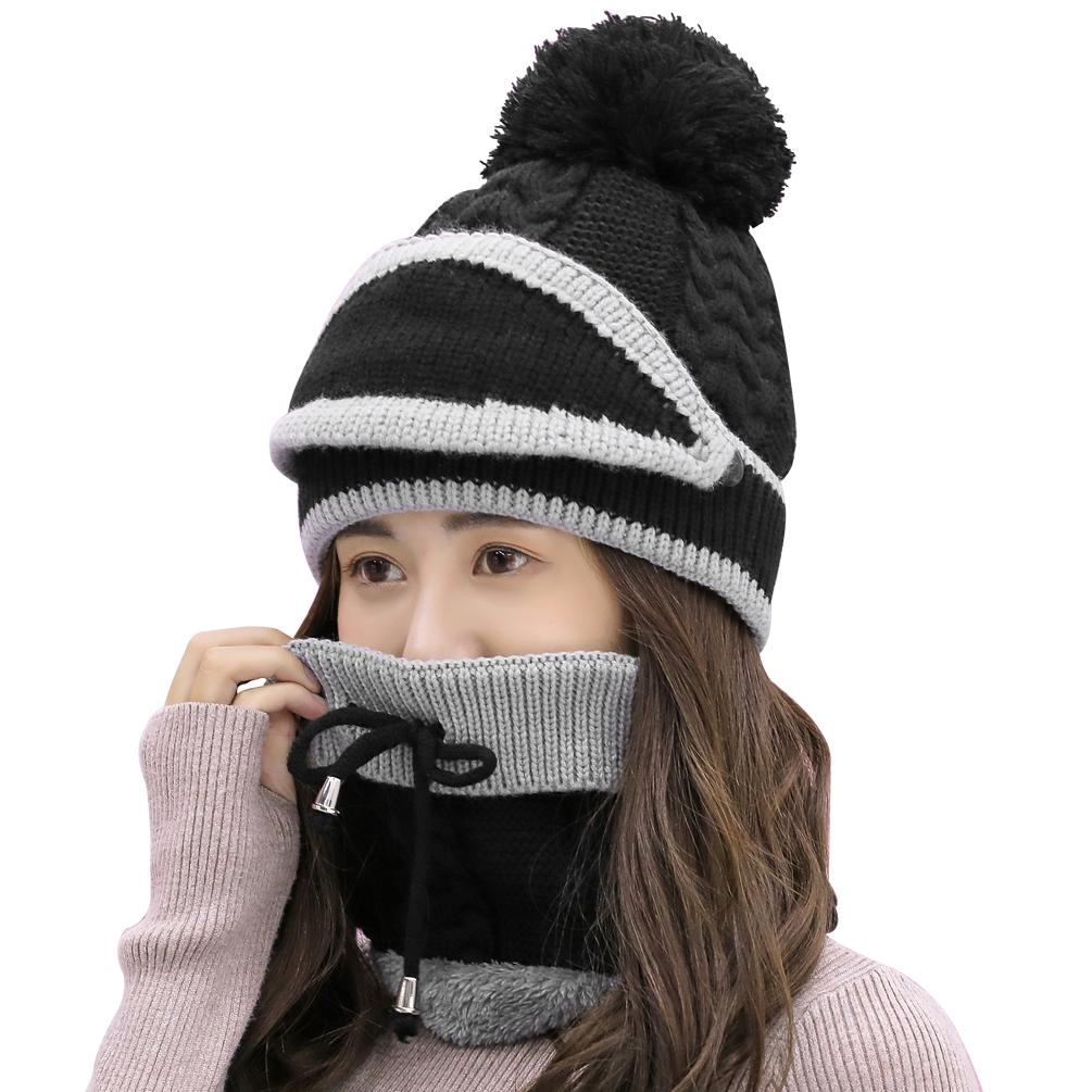 [해외]Vbiger 여성 겨울 니트 모자 스카프 마스크 설정 3pcs 따뜻한 겨울 니트 두꺼운 니트 모자 스카프 세트/Vbiger Women Winter Knitted Hat ScarfMask Set 3pcs Warm Winter Knitted Thickened Kni
