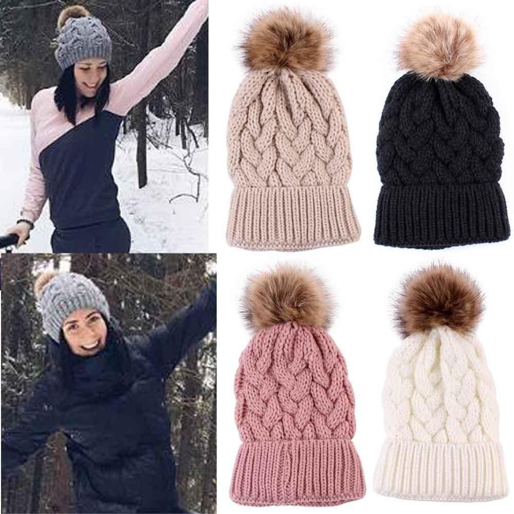 [해외]핫 세일 여성 패션 따뜻한 겨울 모자 니트 양모 헤밍 모자 레드 베이지 블랙 그레이 화이트 여성 모자 니트 여성 모자/Hot sale Women Fashion Keep Warm Winter Hats Knitted Wool Hemming Hat Red Beige