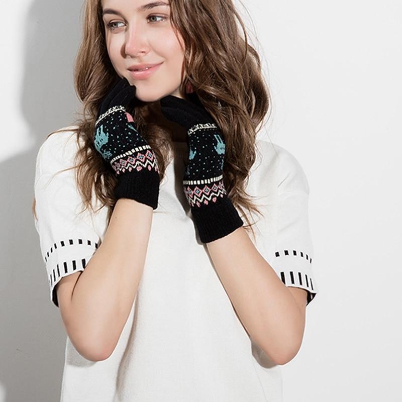 [해외]2017 따뜻한 겨울 여성 장갑 양모 니트 손목 장갑 여성 남성 패턴 전체 손가락 UniGloves 장갑/2017 Warm Winter Female Gloves Wool Knitted Wrist Gloves Women Men Pattern Full Finger