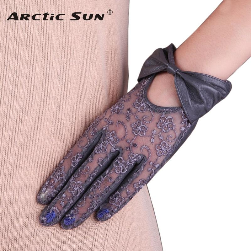 [해외]여자의 진짜 가죽 장갑 바 너클의 레이스 가을 겨울 선 스크린 양모 장갑 여성 짧은 스타일 터치 스크린 L177N/Women`s Genuine Leather Gloves Bowknot Lace Autumn Winter Sunscreen Sheepskin Glov