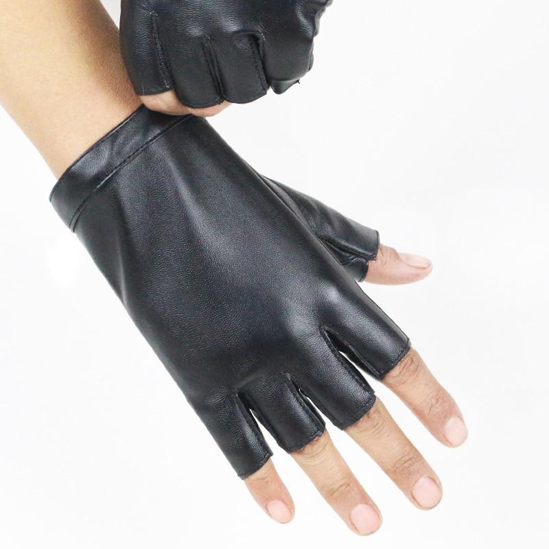 [해외]패션 여성 얇은 통기성 PU 가죽 펑크 힙합 댄스 장갑 여성 하프 핑거 운전 장갑 나이트 클럽 쇼 장갑 A74/Fashion Female Thin Breathable PU Leather Punk Hip-hop Dance Gloves Women Half Finge