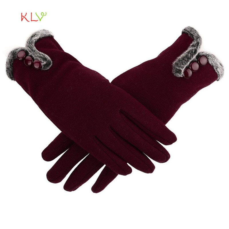 [해외]/Womens Gloves Leater Waterproof Driving Full Finger Cashmere Gloves Touch Screen Glove  17SEP14