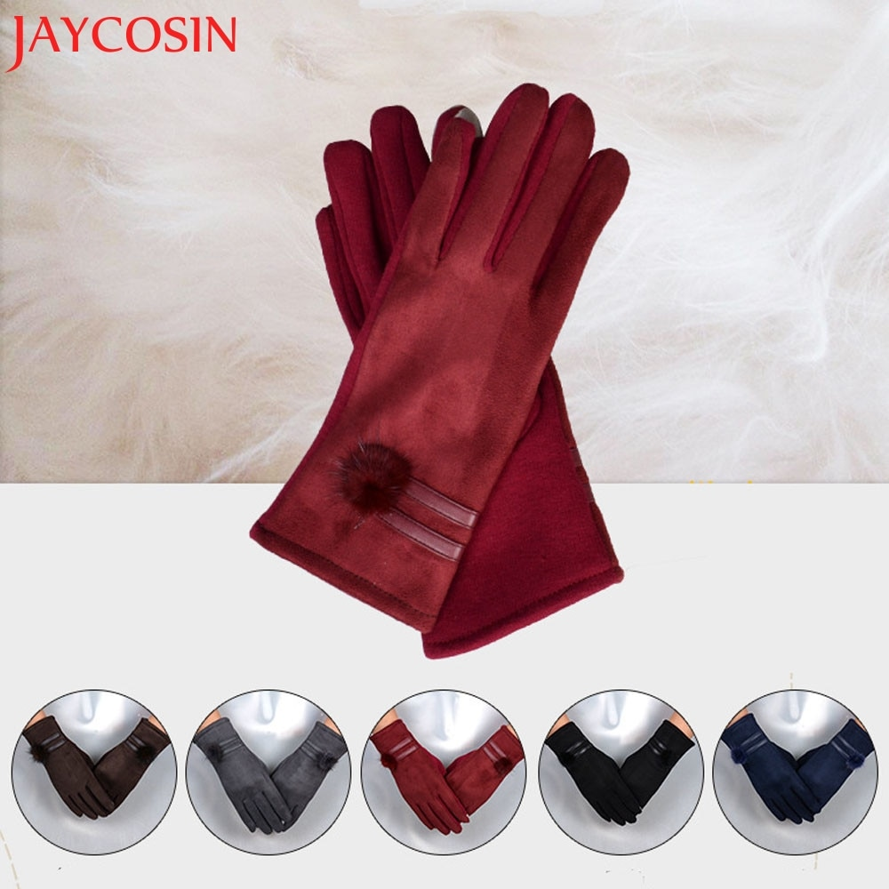 [해외]/Women Gloves Winter Warm Soft Wrist Gloves Mittens  Ladies Cotton Glove Touch Screen Gloves Dropship Nov.16