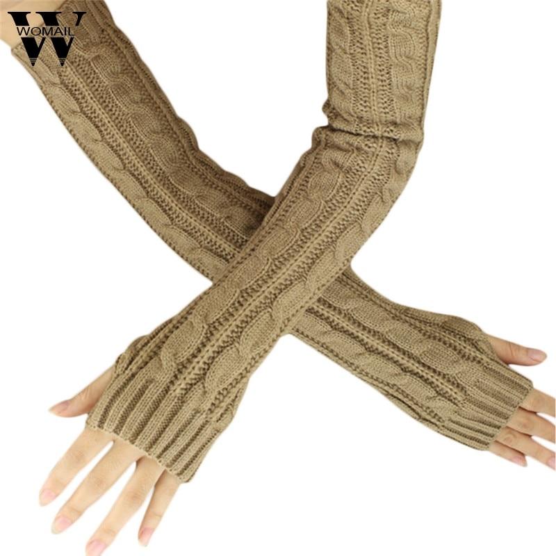 [해외]Amazing 1 Pair Fashion Winter Women Girl Fingless Knit Long Gloves/Amazing 1 Pair Fashion Winter Women Girl Fingless Knit Long Gloves