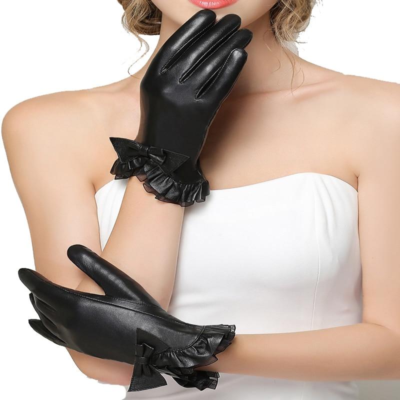 [해외]2019 new arrival  Women Leather Gloves Wrist Genuine Leather toucu screen Gloves Sheepskin Gloves Fashion Leather Gloves/2019 new arrival  Women L