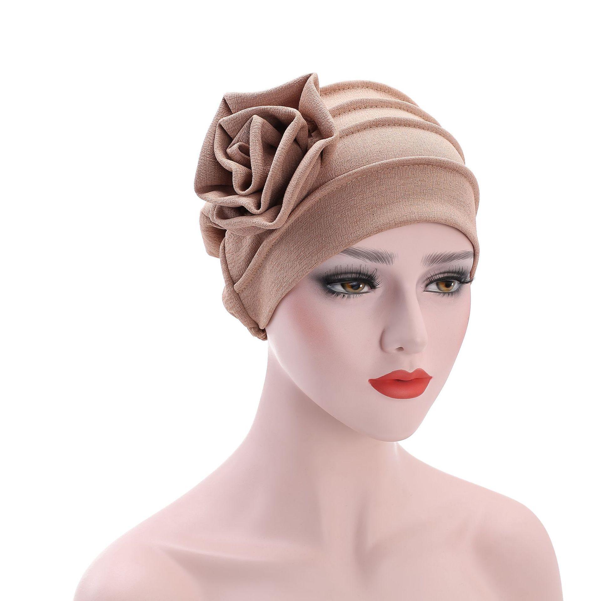 [해외]6 색 여성 사이드 플라워 헤드웨어 헤드 랩 아프리카 헤드 랩 트위스트 헤어 밴드 터 반 반다나 붕대 히 자브 액세서리 인도 모자/6 Color Women Side Flower Headwear Headwrap African Head wrap Twist Hair