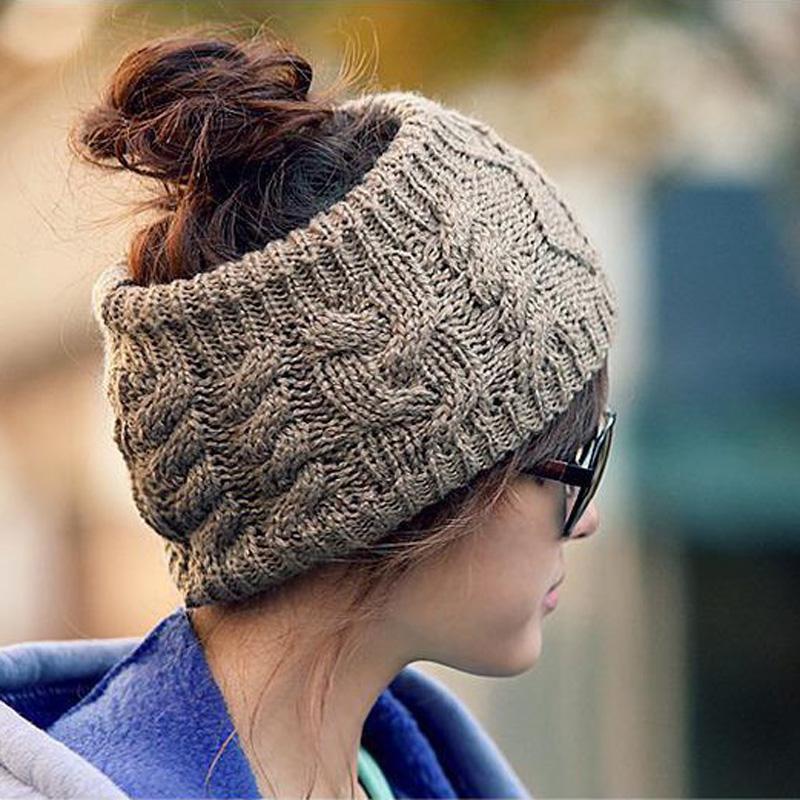 [해외]1PCS 패션 니트 머리띠 여성용 모자를 쓰고 겨울 따뜻한 크로 셰 뜨개질 스트레칭 트위스트 헤드 밴드 소녀를터번 헤어 액세서리/1Pcs Fashion Knitted Headbands Headwear For Women Winter Warm Crochet Stre