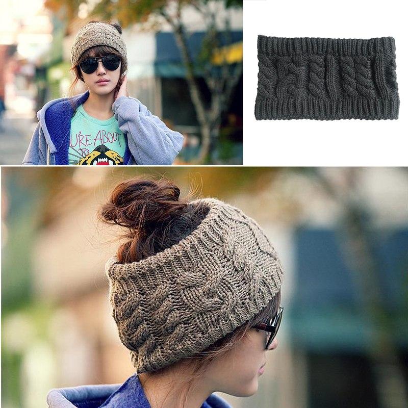 [해외]패션 와이드 뜨개질 모직 머리띠 겨울 따뜻한 귀 크로 셰 뜨개질 터번 헤어 액세서리 여자 헤어 밴드 헤드 랩/Fashion Wide Knitting Woolen Headband Winter Warm Ear Crochet Turban Hair Accessories