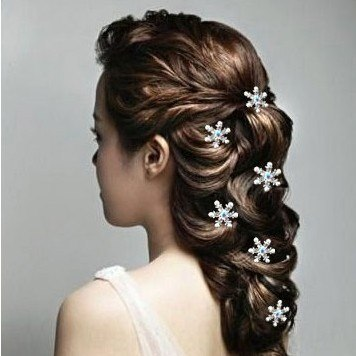 [해외]눈송이 보석 머리 핀 머리 핀 머리 장식 보석 headflower/Snowflake jewelry hairpin hair pin headdress jewelry headflower