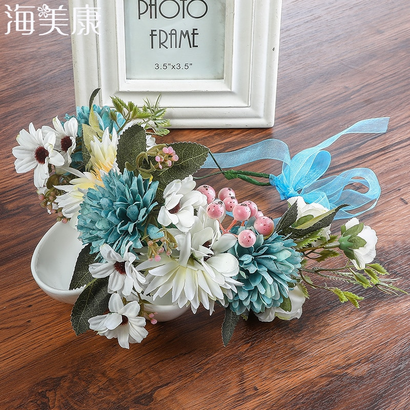 [해외]Haimeikang Chrysanthemum Flower Wreath Hairband Wedding Bridal Headdress Hair Accessories Wedding Crown Garlands Girl`s Headband/Haimeikang Chrysa