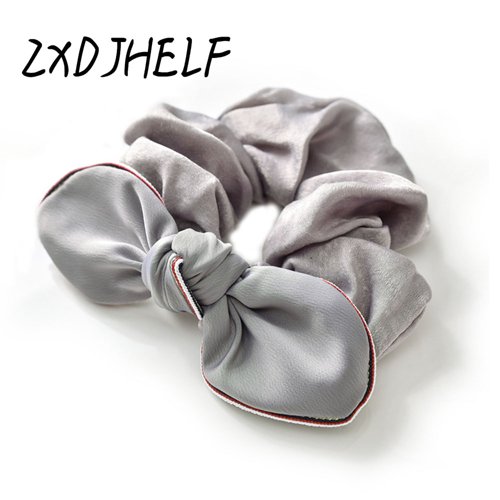 [해외]ZXDJHELF Women Rubber Bands Satin Ribbon Bow Elastic Hair Band Rope Scrunchie Ponytail Holder Gum For Girl Hair Accessories F003/ZXDJHELF Women Ru