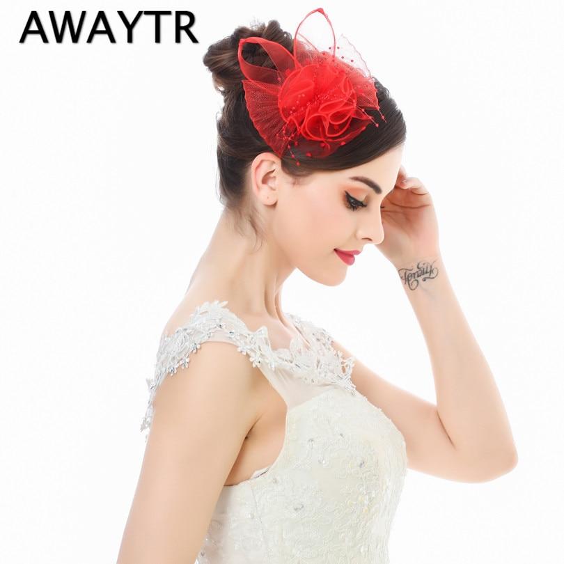 [해외]2019 Ladies Elegant Wedding Hair Accessories Bridal Fascinator Cocktail Hat for Party New Veil Pearl Black White Headdress/2019 Ladies Elegant Wed