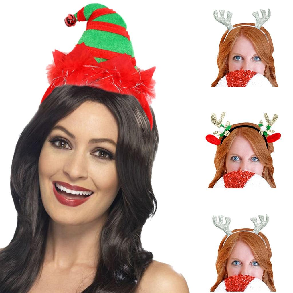 [해외]재미 있은 머리띠 파티 headclip 남여 크리스마스 휴일 드레스 머리띠 코스프레 여러 가지 빛깔의 라이트 업 간단한 뿔 헤어 밴드