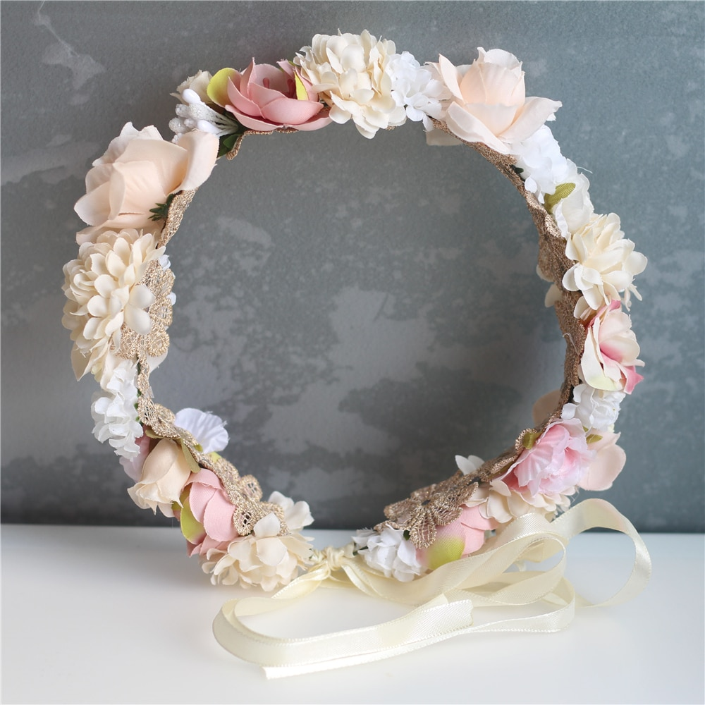 [해외]Flower Girl Crown Wedding Boho Headpiece Headband Hair Wreath/Flower Girl Crown Wedding Boho Headpiece Headband Hair Wreath