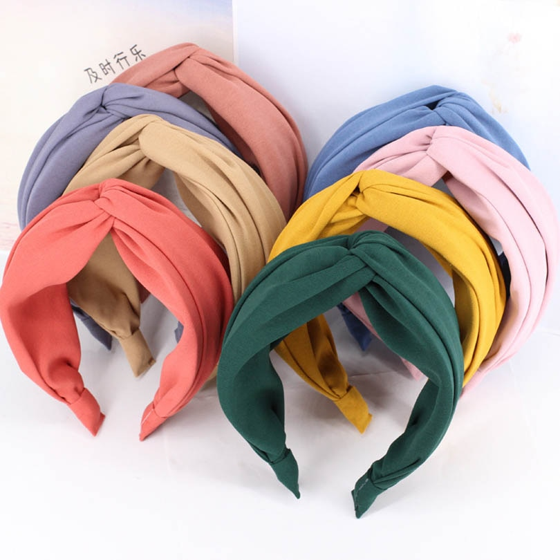 [해외]Haimeikang Fashion Women Cross Hair Bands for Girls Headband Knotted Hair Accessories Solid Color/Haimeikang Fashion Women Cross Hair Ba