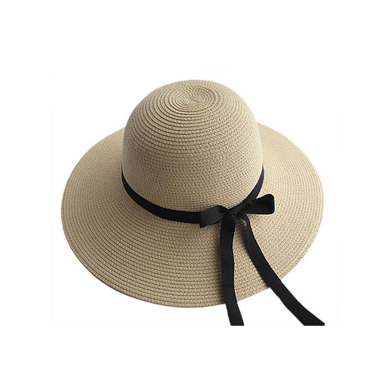 [해외]모자를새로운 패션 여성용 Trilby 여름 해변 Sun StrawRibbow Bow Band Sunhat 우아한 짚 플로피 보헤미아/New Fashion For Hats Women Trilby For Cap Summer Beach Sun StrawRibbow B