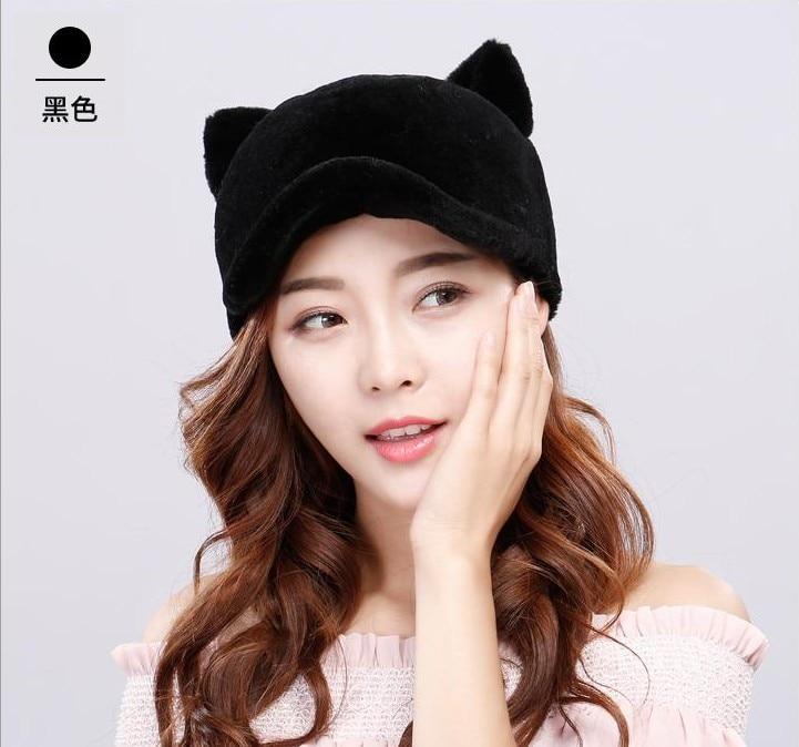 [해외]  17 new whole skin imports sheep cut shepherd cap helmet warm ear protection autumn winter men and women fur hat/  17 new whole skin imports shee