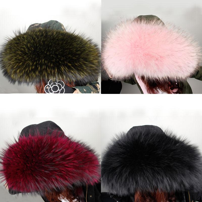 [해외]2017 Winter Korea Big Real Hooded Furs 100%Real Raccoon Color fur Collar  sitka kerst/2017 Winter Korea Big Real Hooded Furs 100%Real Raccoon Colo