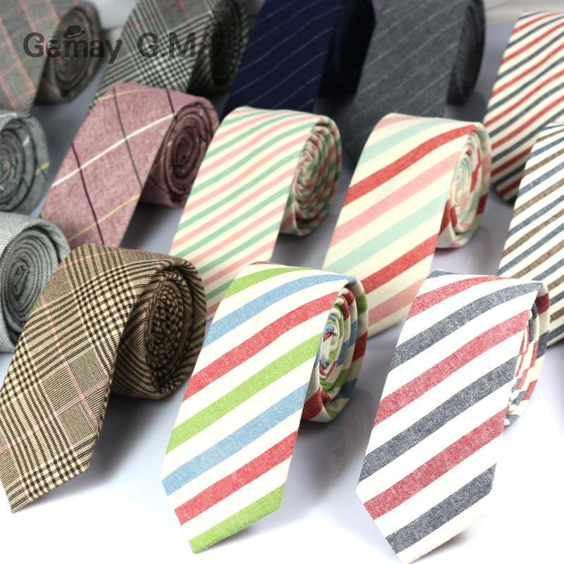 [해외]New Fashion Mens Ties 100% Cotton Necktie for Men Causal Stripe Tie For Man Bussines Corbatas Bridegroom Party Slim Neckties/New Fashion Mens Ties