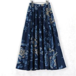 [해외]2018 여름 여성 코 튼 스커트 캐주얼 긴 꽃 여성 스커트/2018 summer women cotton skirts casual long floral  women skirt