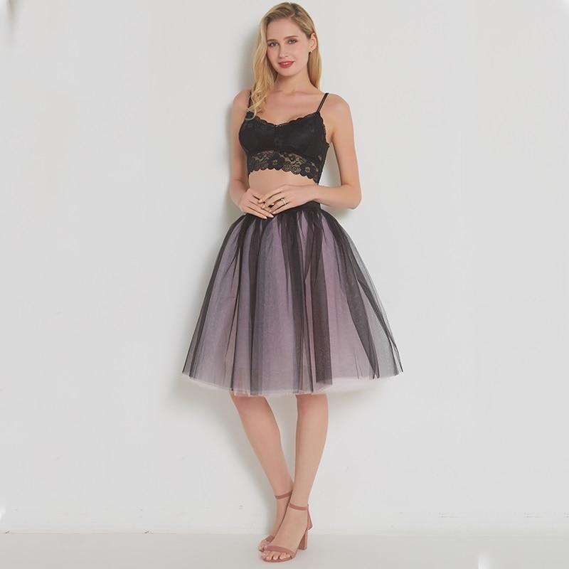 [해외]메쉬 Pleated 7 레이어 댄스 얇은 명주 그물 치마 패션 투투 스커트 여자 페티코트 탄성 벨트 2018 Lolita faldas saia jupe/Mesh Pleated 7 Layers Dance Tulle Skirt Fashion Tutu Skirts W