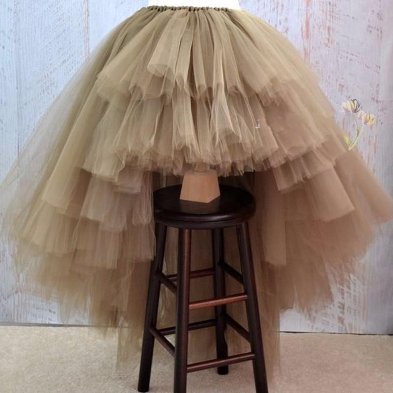 [해외]절묘한 Tulle Tiered Long Women 스커트 특별 디자인 High Low Puffy Maxi 스커트 맞춤 제작 투투 야간 파티 Maxi Skirts/Exquisite Tulle Tiered Long Women Skirts Special Design
