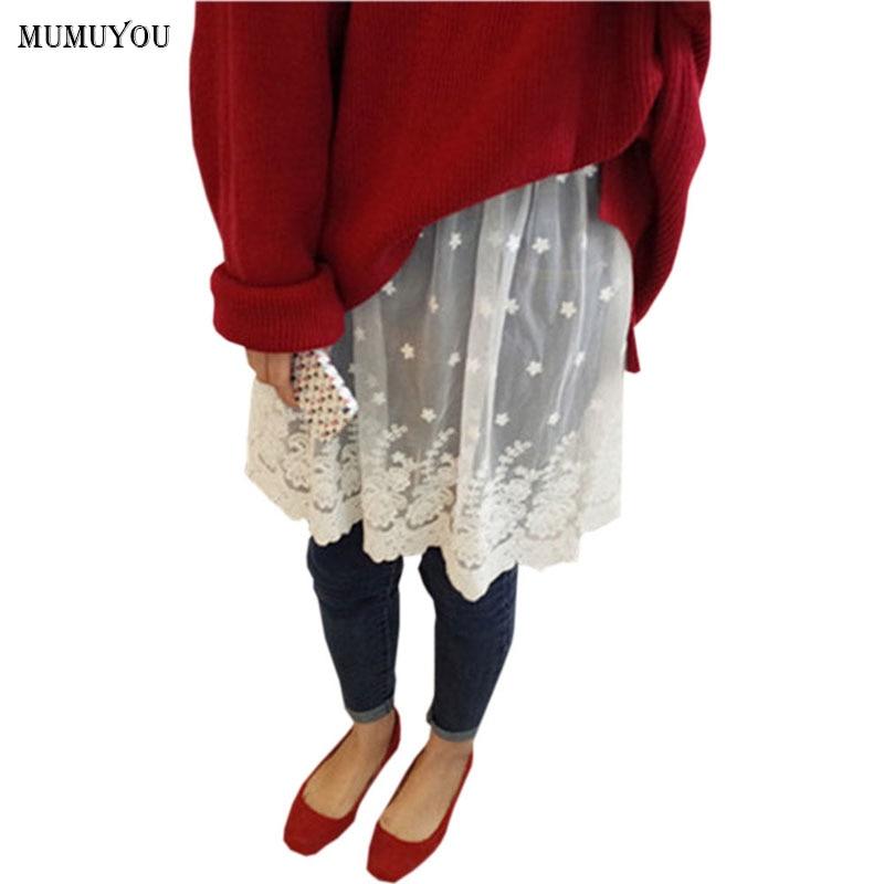 [해외]여성 레이스 투명 스커트 쉬어 코튼 캐주얼 탄성 허리 메쉬 페티코트 언더 셔츠 여름 스커트 블랙 화이트 035-269/Women Lace Transparent Skirt Sheer Cotton Casual Elastic Waist Mesh Petticoat Un