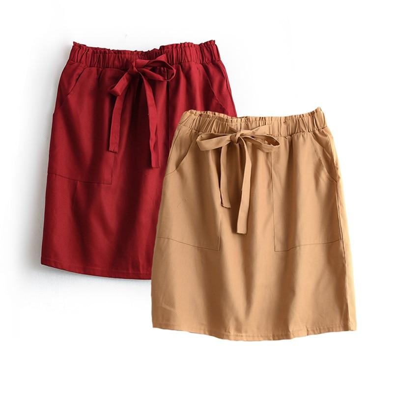 [해외]Streetwear 미디 스커트 여름 여성 하이 웨스트 레이스 업 미니 SkirtsPocket Jupe Femme 슬림 펜슬 스커트 Saia Faldas Feminino/Streetwear Midi Skirt Summer Women High Waist Lace-