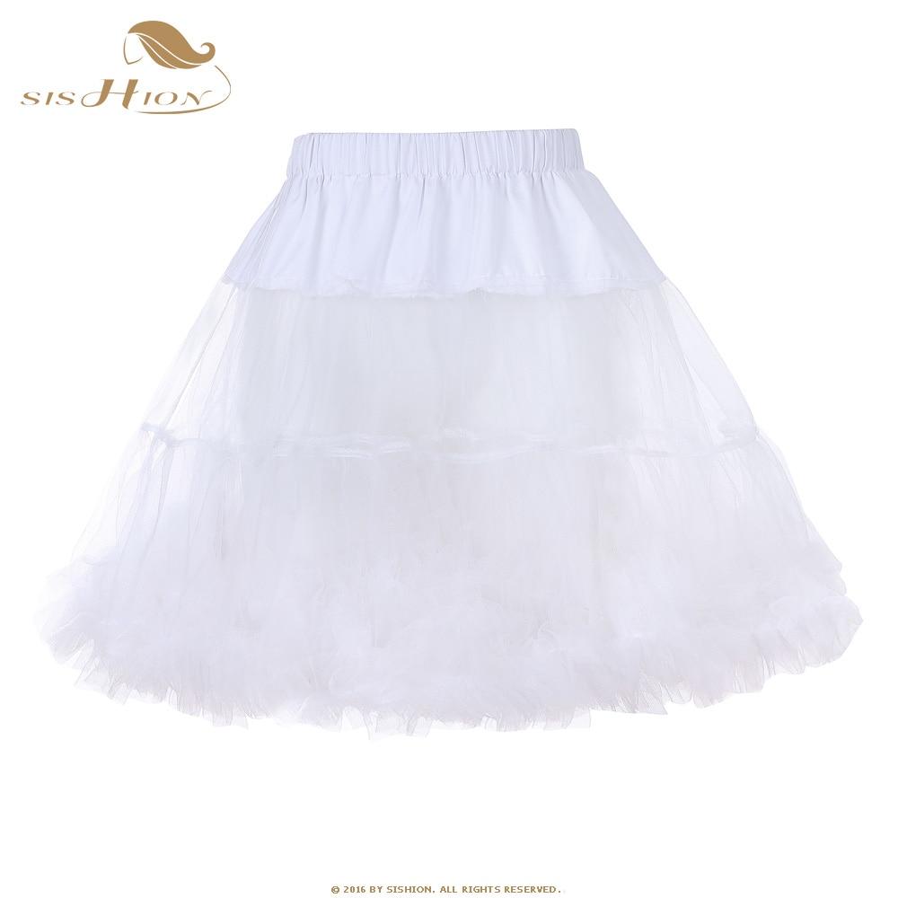 [해외]SISHION Women Tutu Skirt 2017 Mini Retro Skirt Tulle Netting Crinoline Rockabilly Petticoat Underskirt Slip Vintage Skirts VD065/SISHION Women Tut