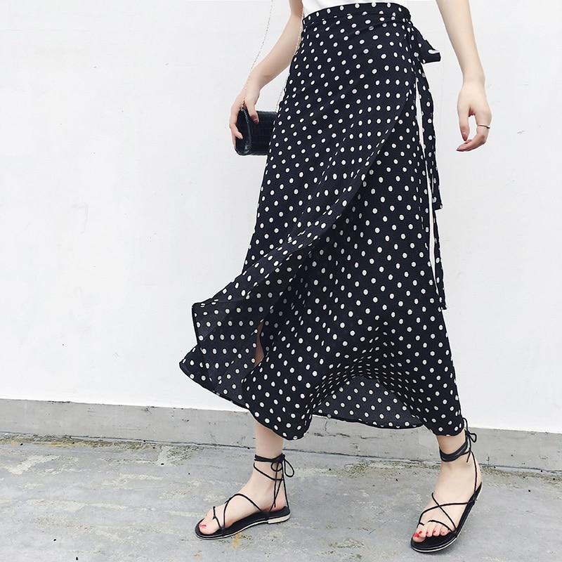 [해외]25 Colors 2019 Bohemian High Waist Floral Print Summer Skirts Womens Boho Asymmetrical Chiffon Skirt Maxi Long Skirts For Women/25 Colors 2019 Boh