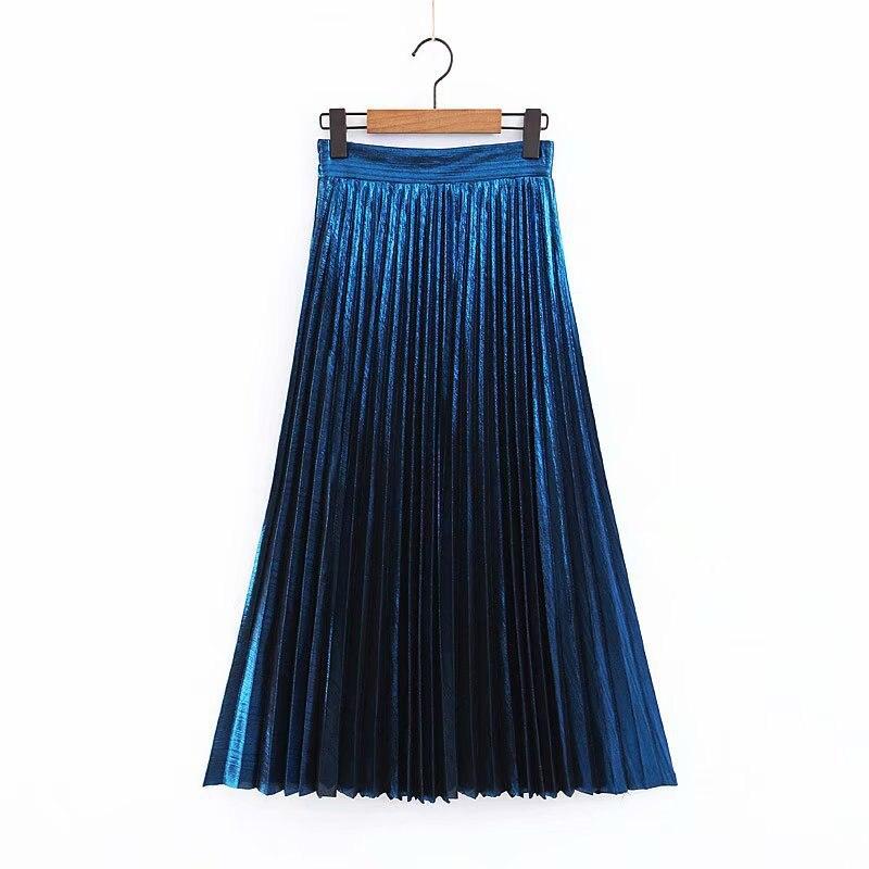 [해외]Fashion Women`s Maxi Long Skirts Luxury Draped Aline Designer 2019 Spring Lady Party Skirts Half Elastic Waist High Waist Skirts/Fashion Women`s M