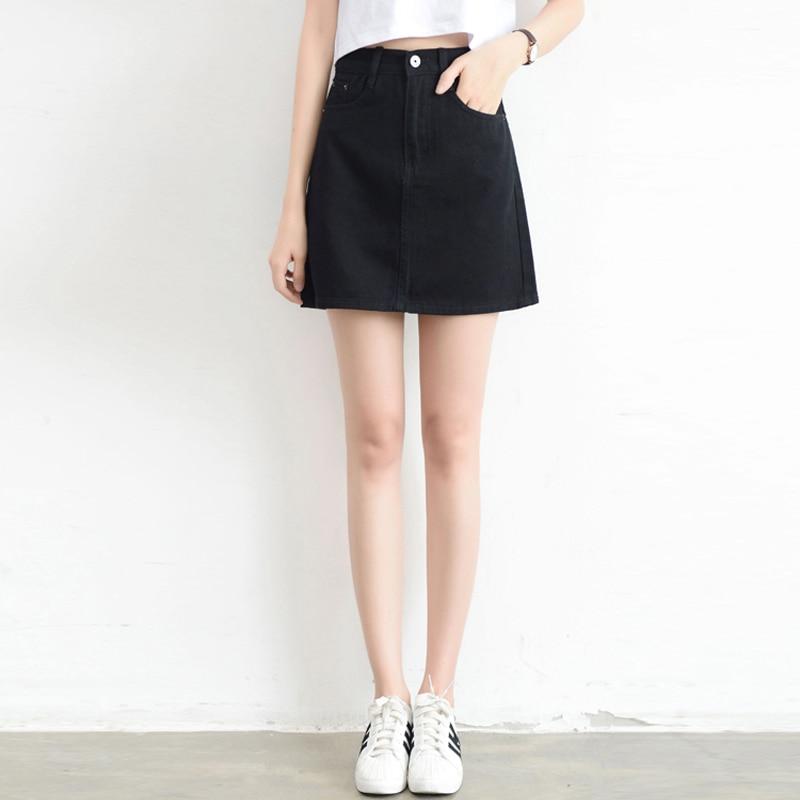 [해외]Lucyever 패션 한국어 summer women denim skirt (high) 저 (허리 black mini skirts smd, smt) 패키지 힙 blue jeans 하라주쿠 plus size 면/Lucyever 패션 한국어 summ